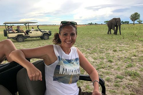 Botswana Safari - Katie Marta - Elephant Sighting on a Game Drive
