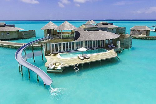 Soneva Jani Resort - 1 Bedroom Water Retreat with Slide - Maldives Overwater Bungalow Vacation