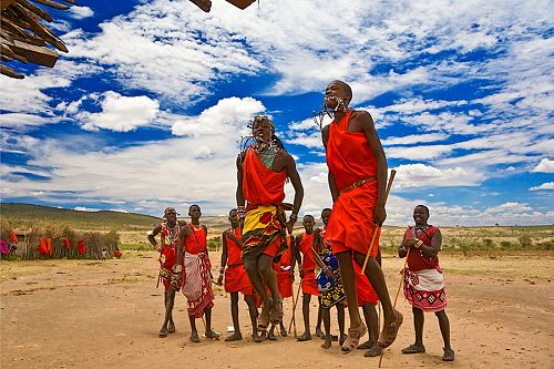 Maasai Warriors Dancing in Kenya