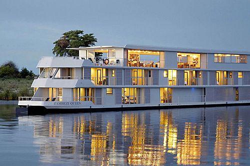 Exterior of the Zambezi Queen River Cruise Vessel