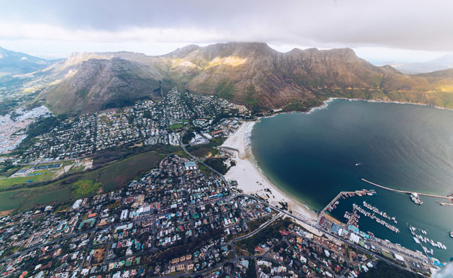 Aerial of Houts Bay - Tourism Cape Town - Travel South Africa