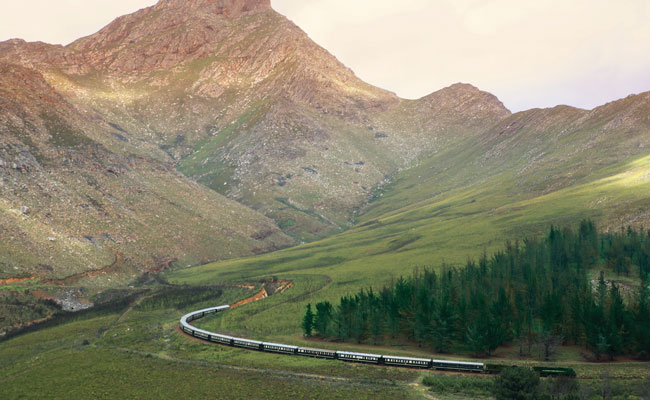 Train going through the mountains - Rovos Rail - Travel South Africa