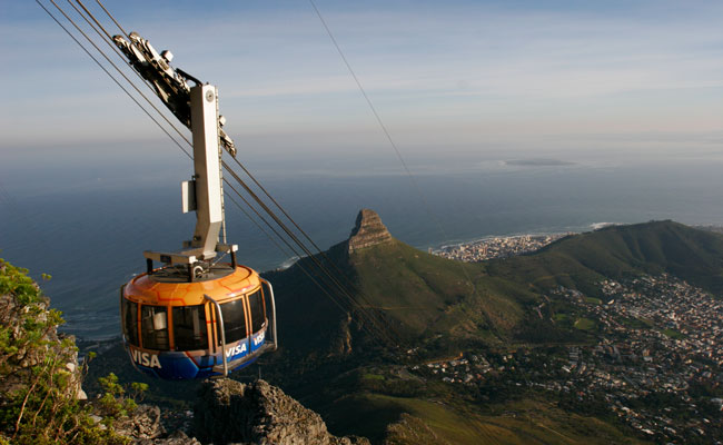 Cablecar going up Table Mountain - Tourism Cape Town - Travel South Africa