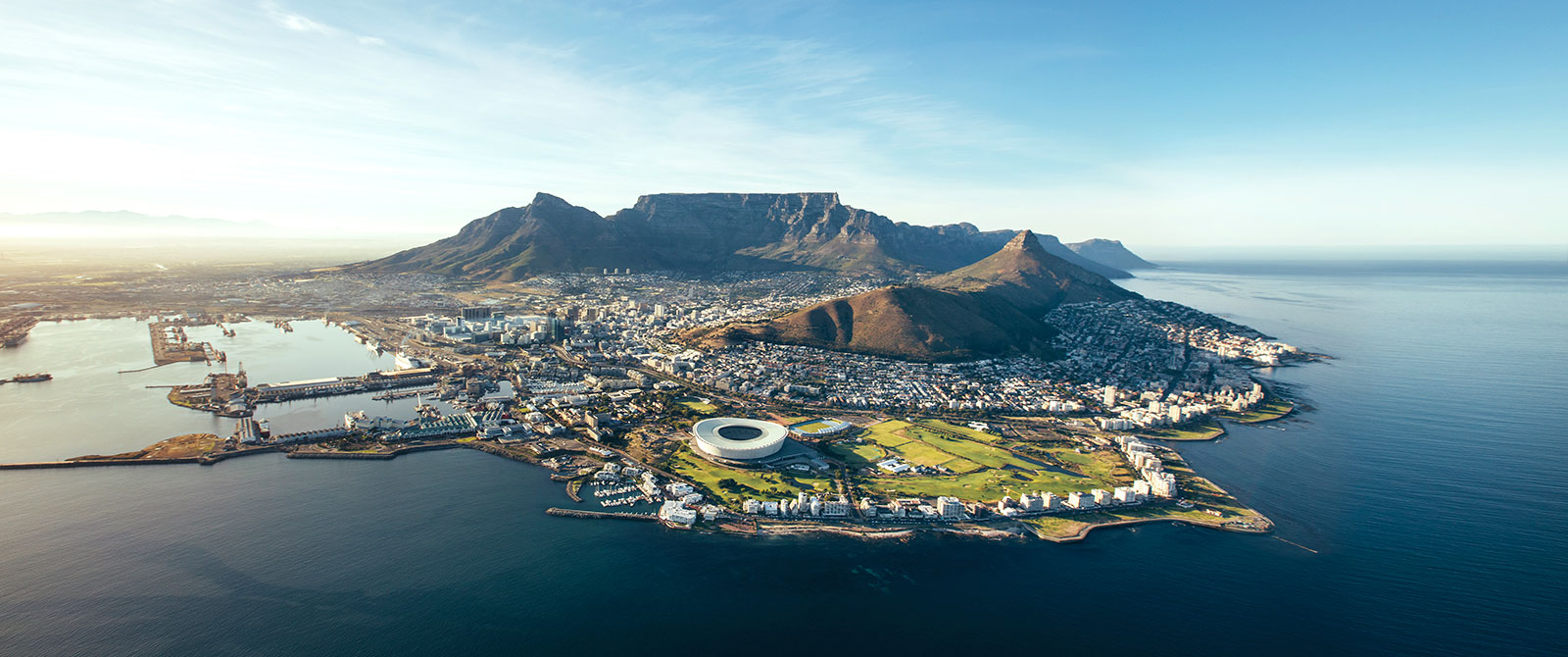 Aerial View of Cape Town - South Africa Garden Route Package