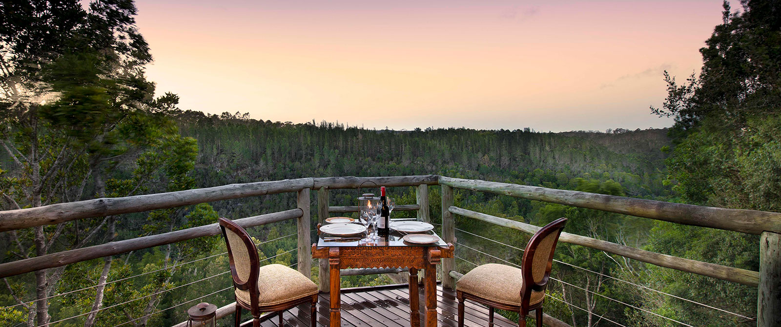 South Africa Garden Route Package - Dining at Tsala Treetop Lodge South Africa