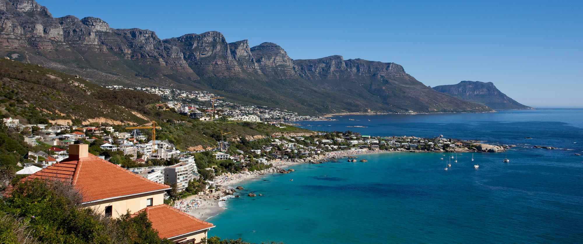 View of Twelve Apostles and Beach in Cape Town