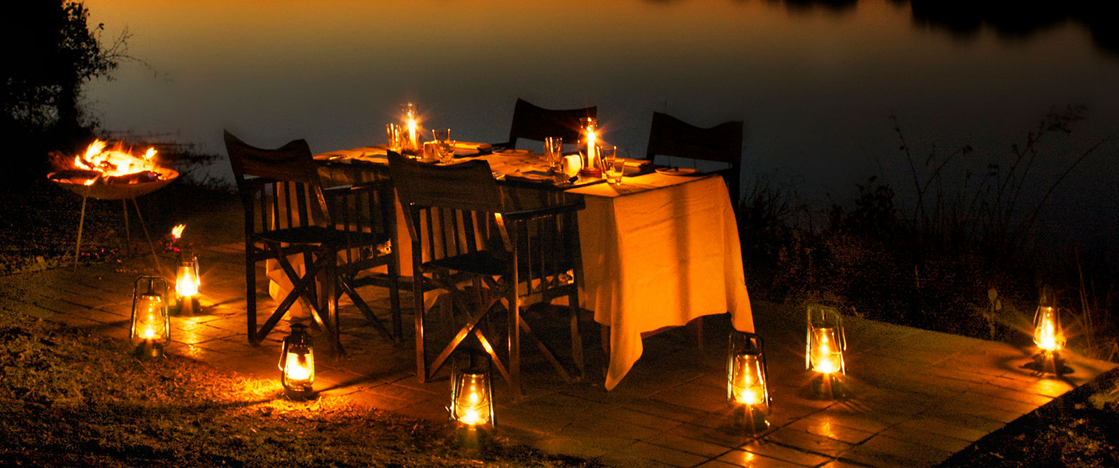 Dining on the River Banks at Zambezi Sands River Camp