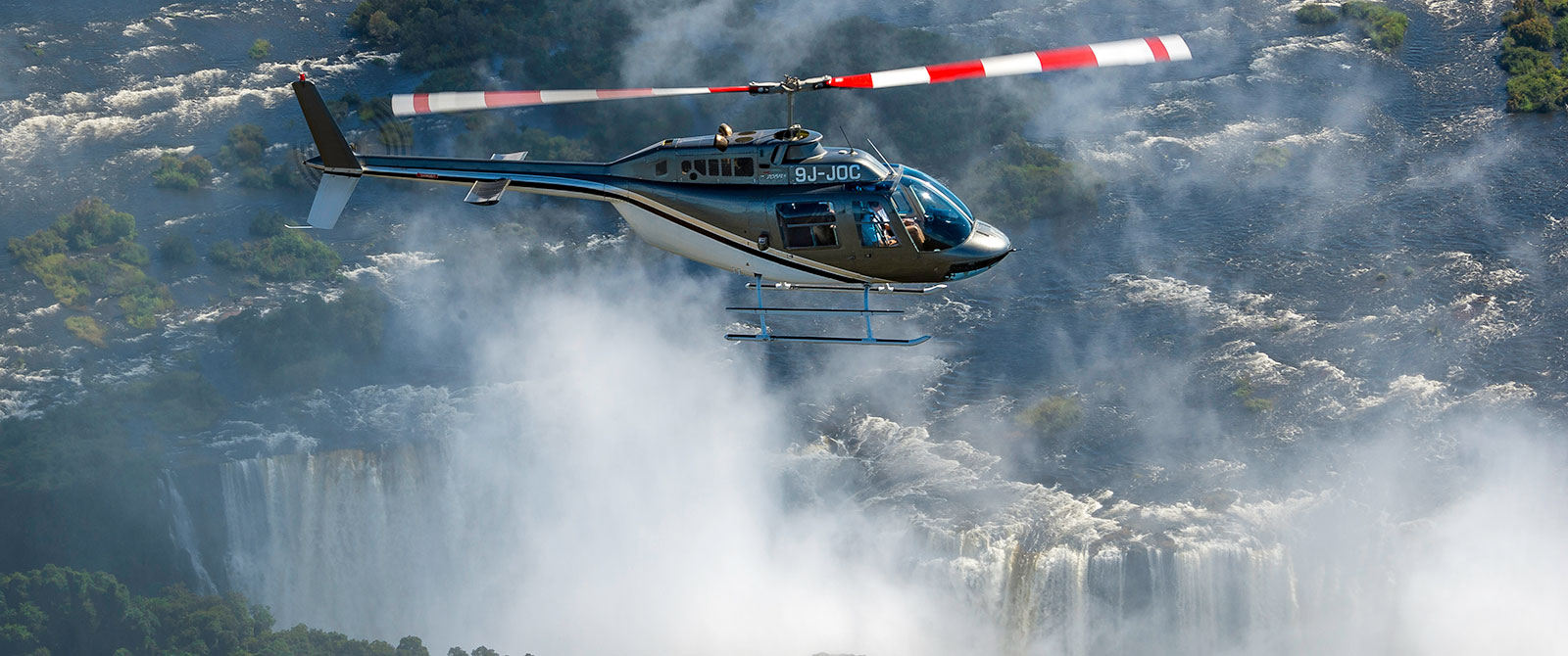 Helicopter Over Victoria Falls