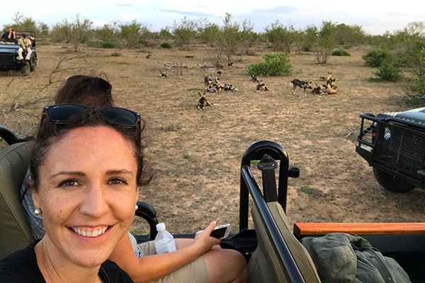Botswana Safari - Katie Marta - Group of African Wild Dogs on a Game Drive