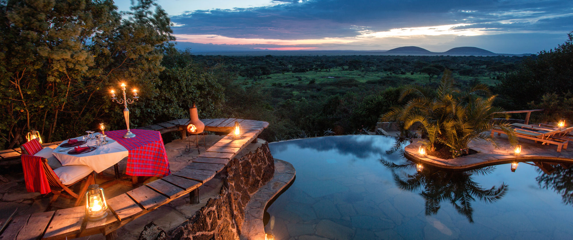 Luxury Kenya Vacation Packages - Best Safari Lodges Kenya, Ol Donyo Lodge Pool