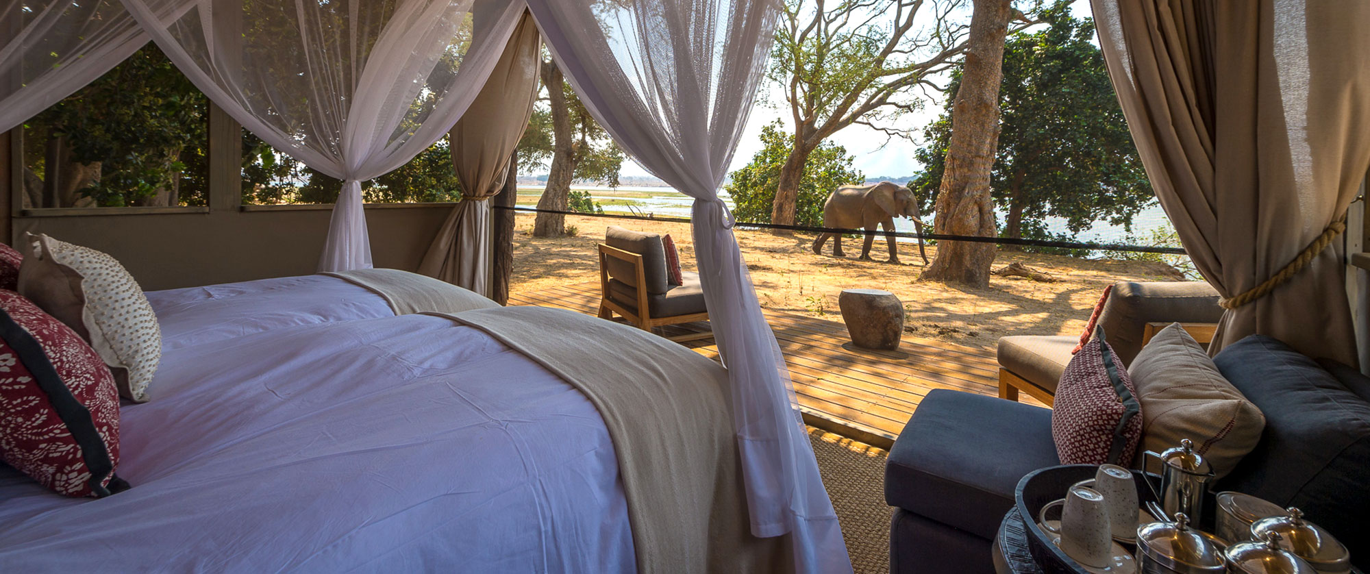 Classic Zimbabwe Safari Package - Little Ruckomechi Camp, Mana Pools National Park, See Wildlife from Your Tent