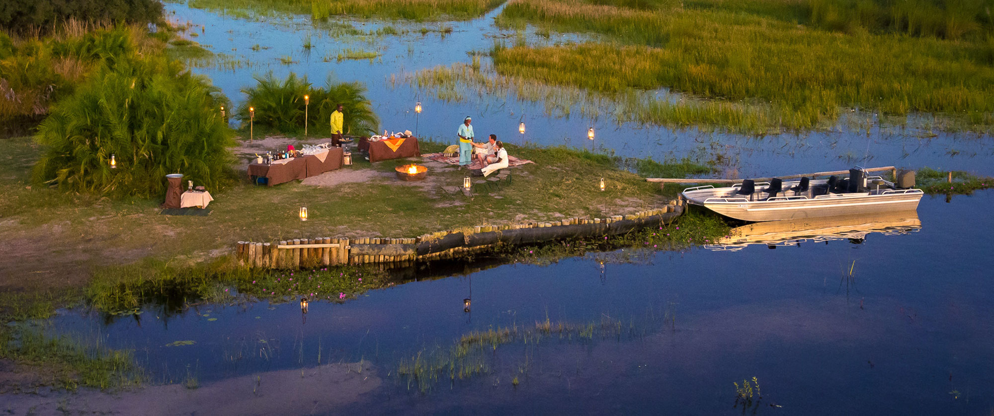 Okavango Delta Packages - Luxury Safari - Picnic on an Okavango Delta Island
