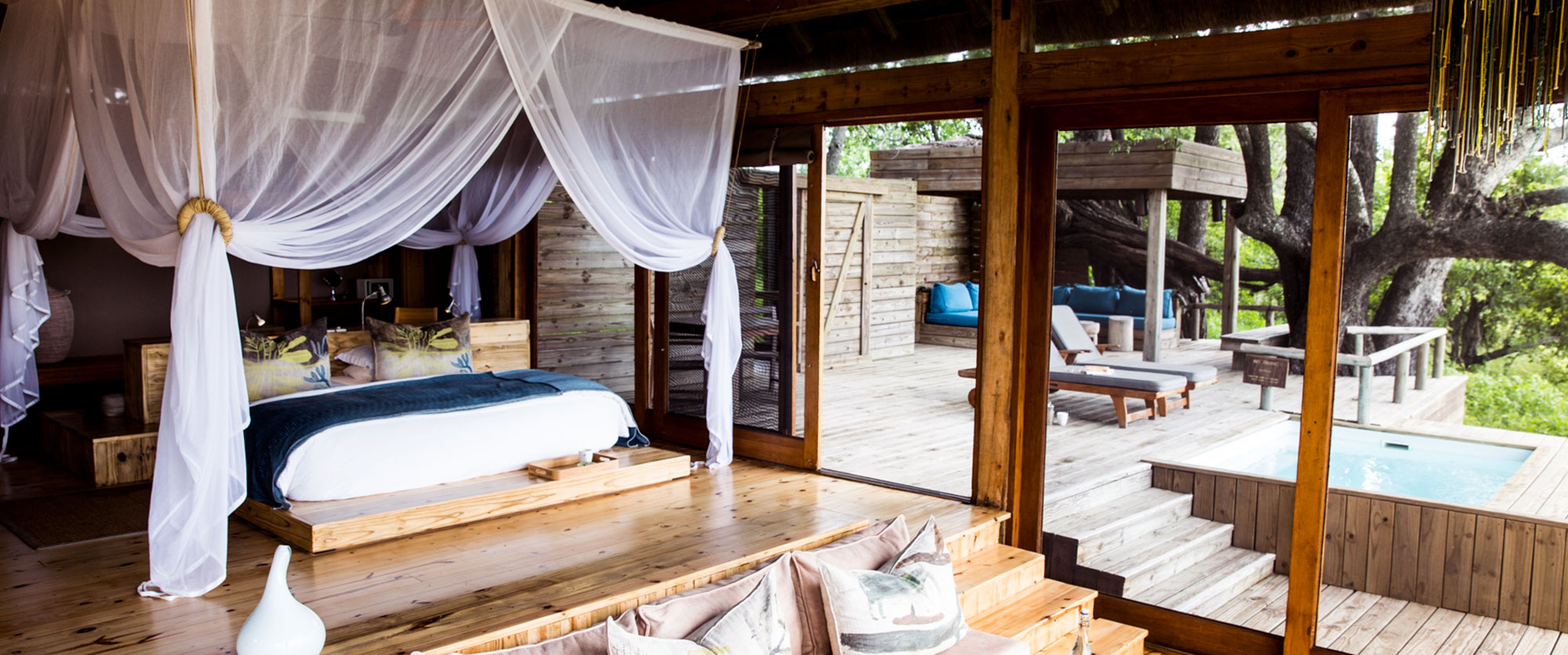 Luxurious suite at Vumbura Camp, Okavango Delta, Botswana