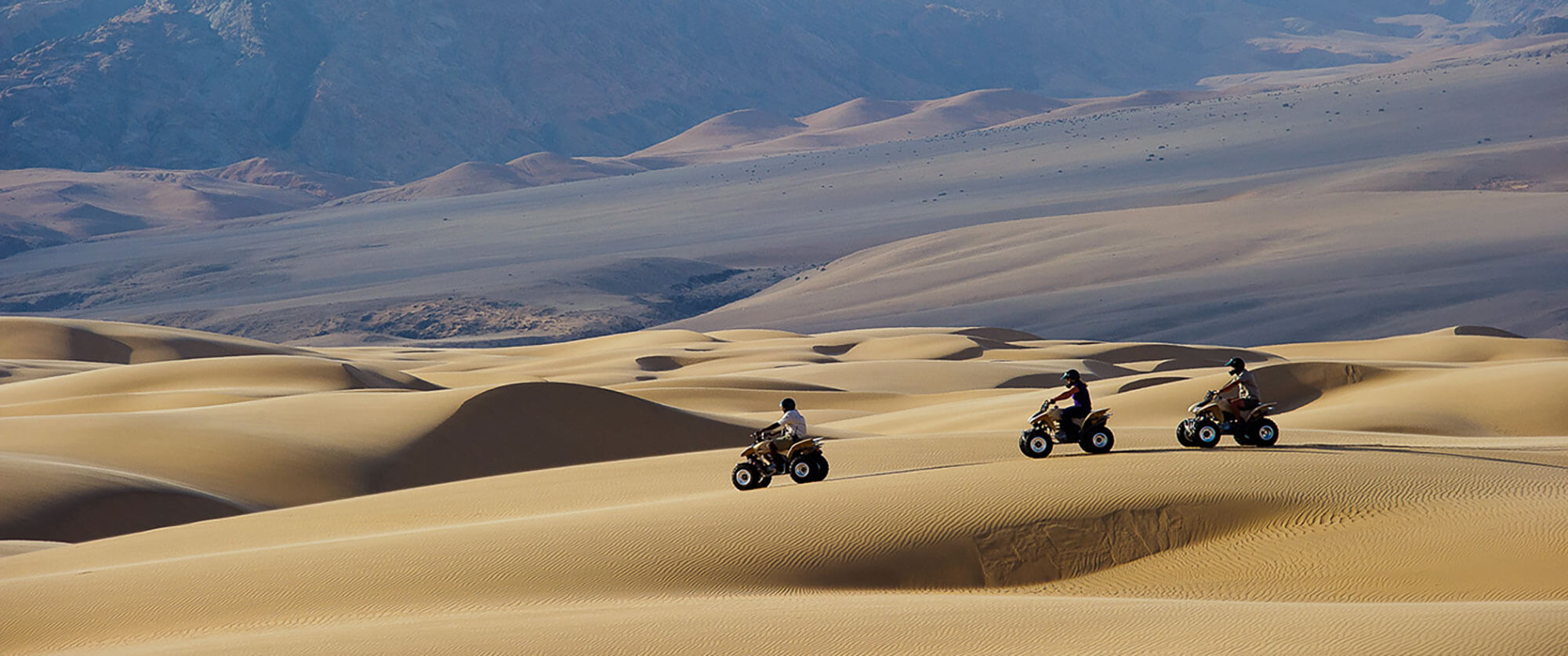 Quad biking in the Namib Desert, Namibia