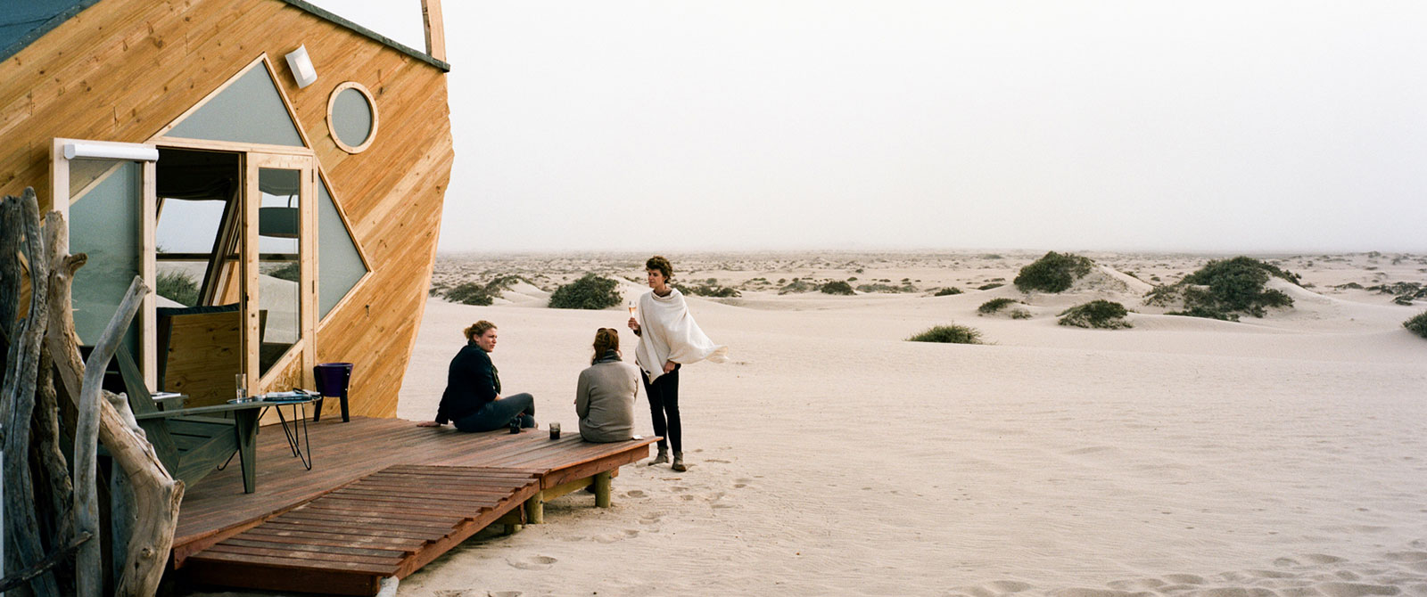 Sundowners at Shipwreck Lodge on the Skeleton Coast, Namibia