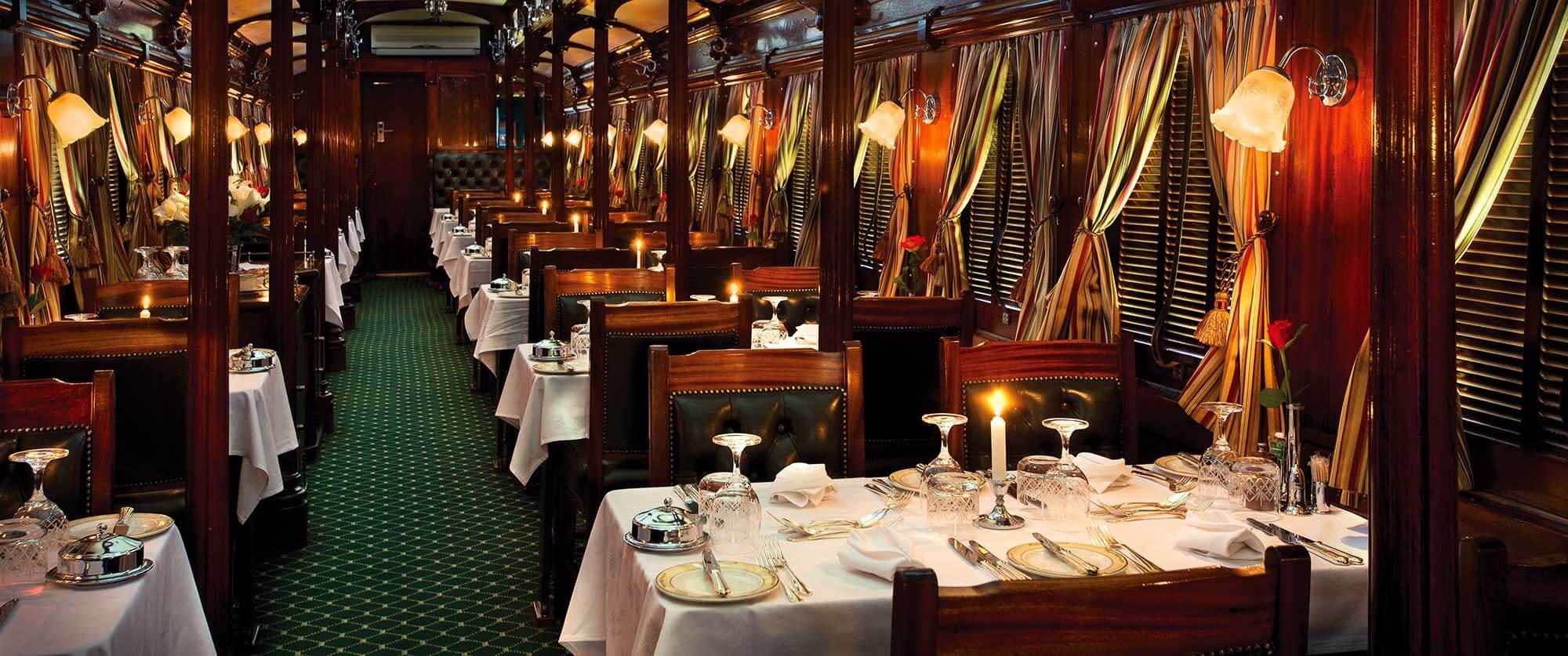 Rovos Rail Dining Car - Rovos Rail Golf Safari South Africa