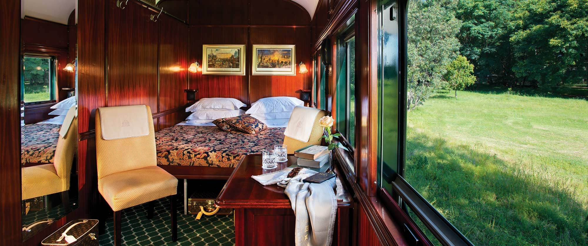 South African Golf Tour - Rovos Rail Deluxe Double Suite - Rovos Rail Golf Collage South Africa