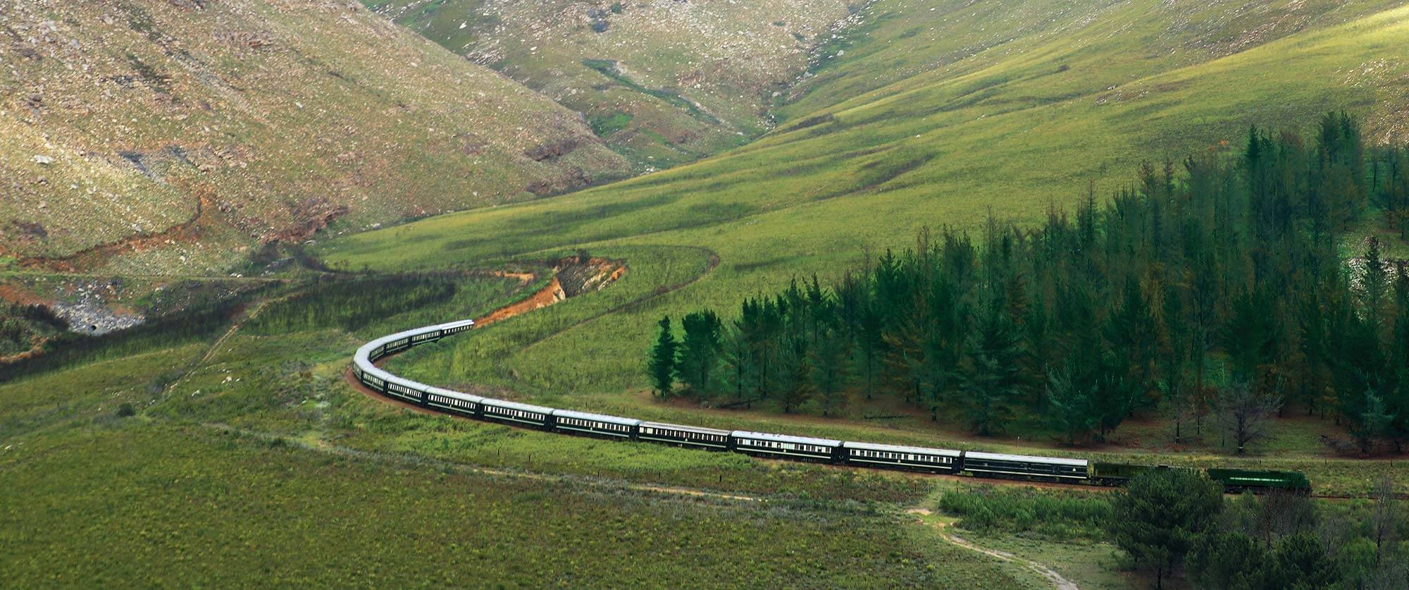 South African Golf Tour - Rovos Rail Traveling Through Oudtshoorn - Rovos Rail Golf Collage South Africa