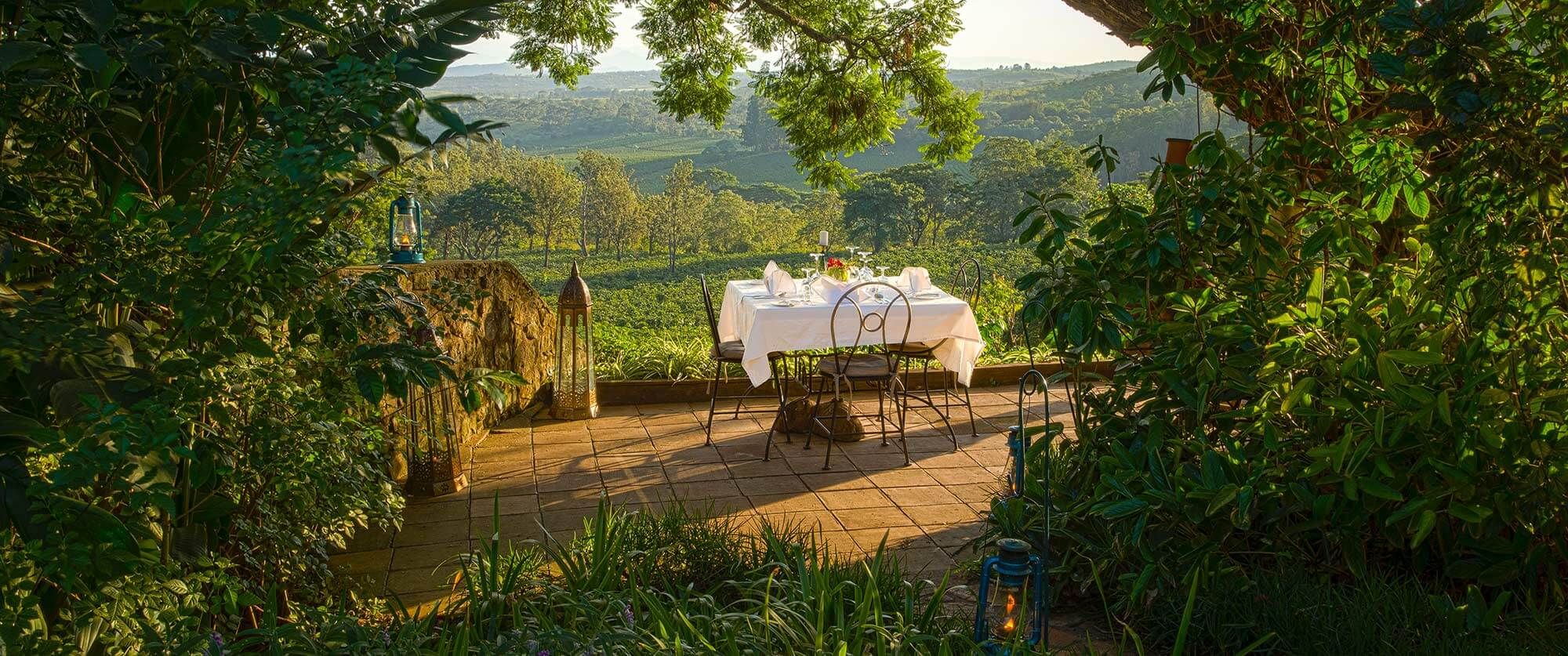 Dining at Gibb's Farm - Ngorongoro Crater Tanzania - Great Migration Safari Packages