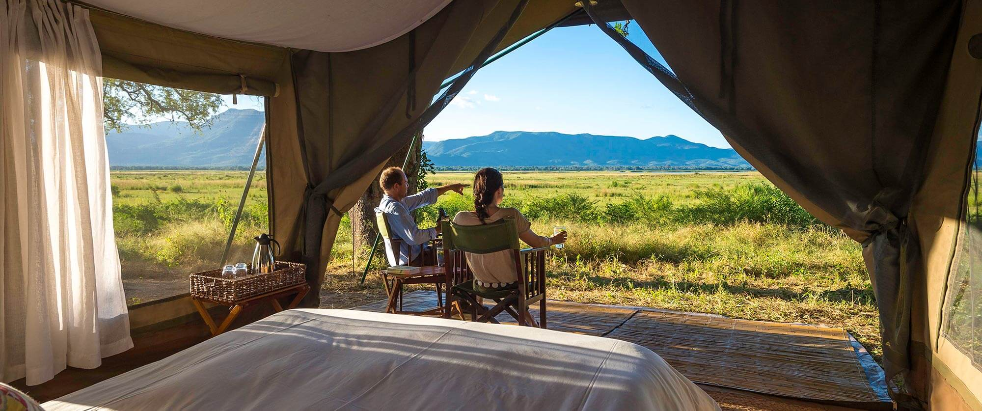 View from Tent - John's Camp Zimbabwe - South Luangwa, Mana Pools, and Victoria Falls Adventure Package