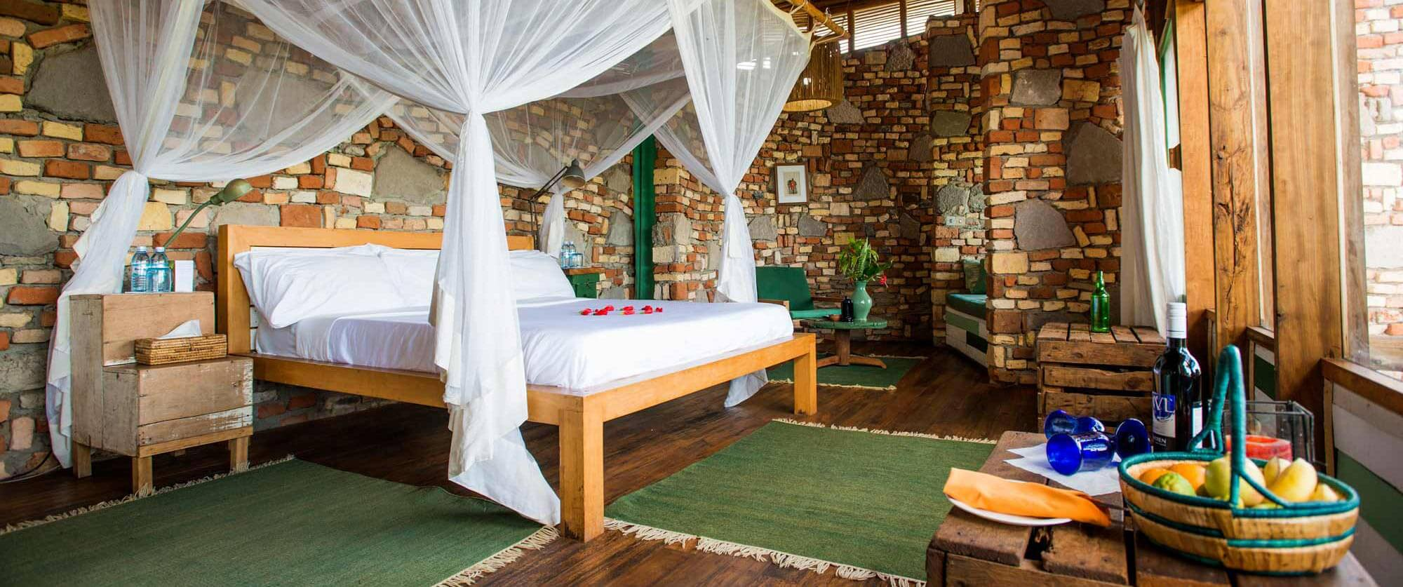 Room at Kyambura Gorge Lodge - Bwindi Impenetrable National Park - Uganda and Rwanda Gorilla Trekking Tour