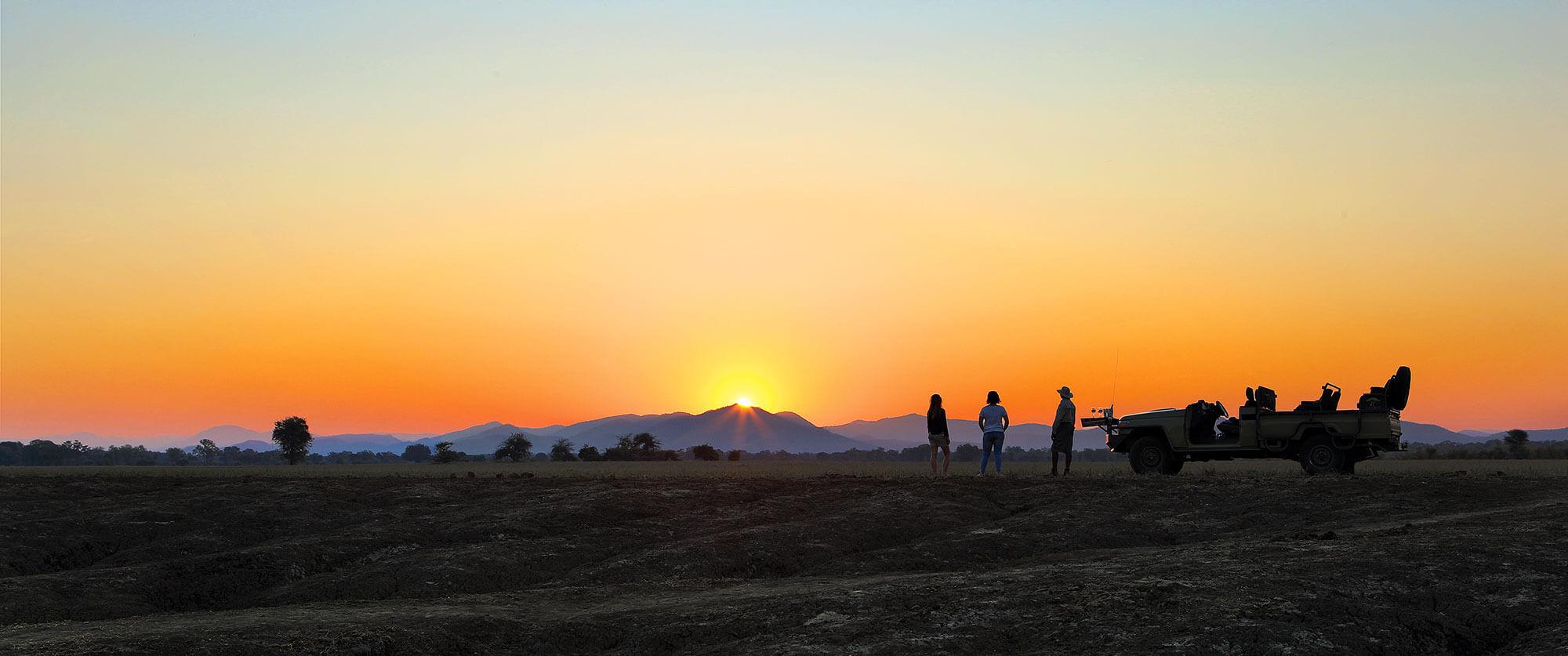 Sundowners at Anabezi Luxury Tented Camp - Wildlife Safari and Beach: Zambia and Lake Malawi Luxury Tour