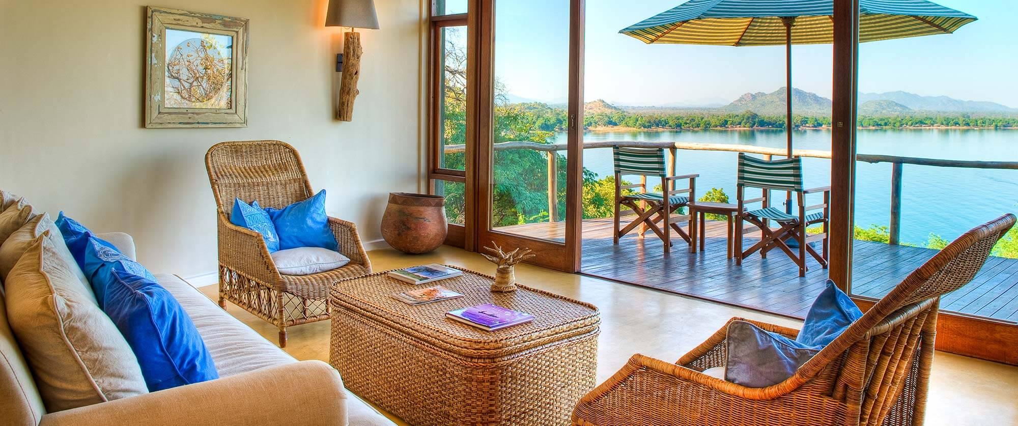 Pumulani Beach Lodge Views of Lake Malawi - Wildlife Safari and Beach: Zambia and Lake Malawi Luxury Tour