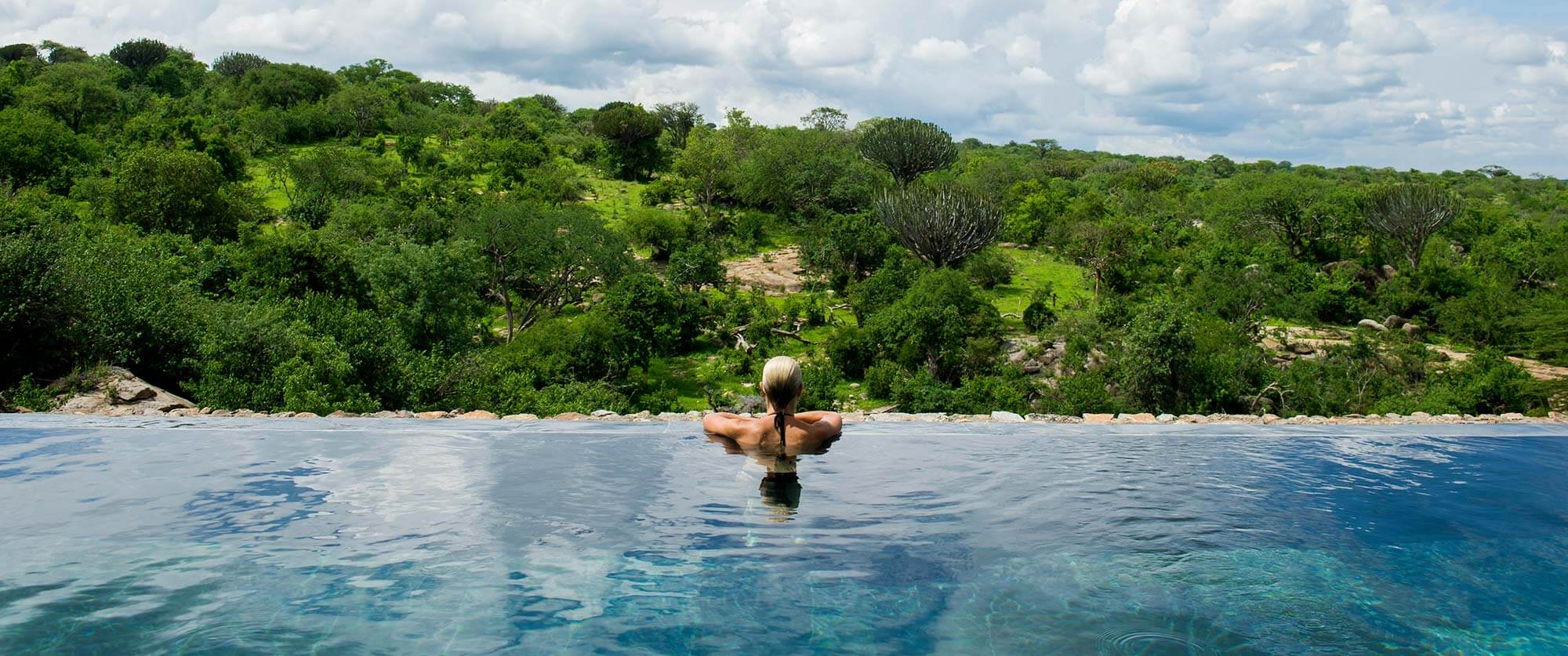 Pool at Mwiba Lodge - Tanzania Safari Tours: Ultimate Northern Circuit Package