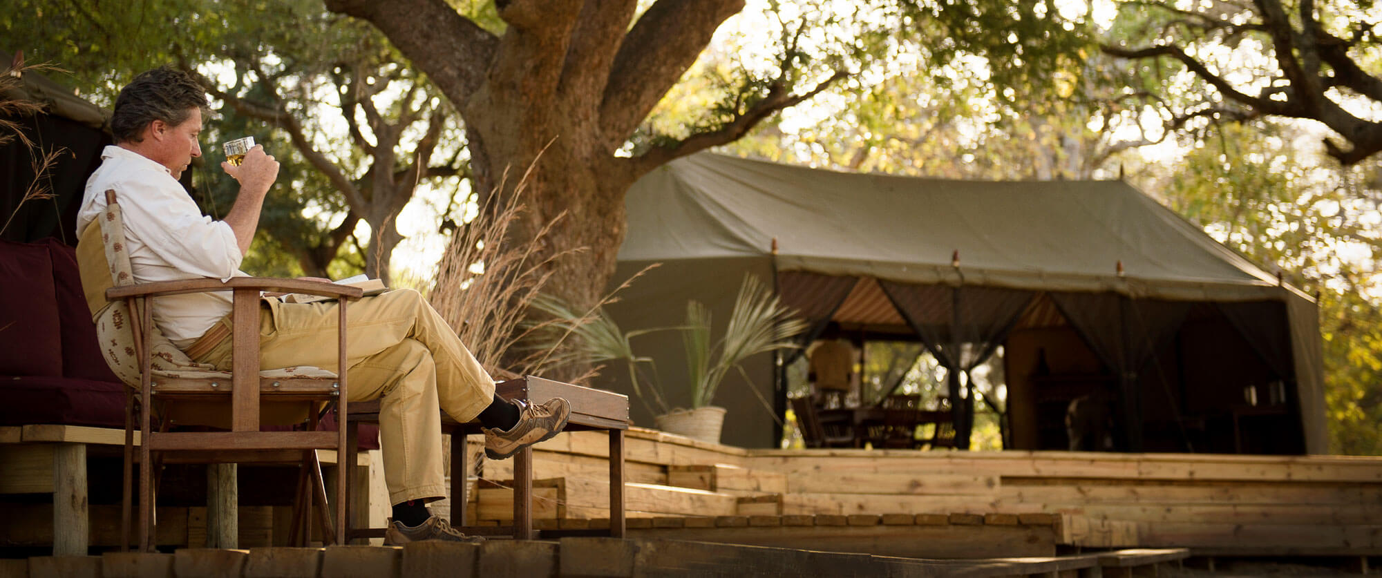Lounging at Chada Katavi - Katavi National Park Safaris - Remote Tanzania Safari Adventure