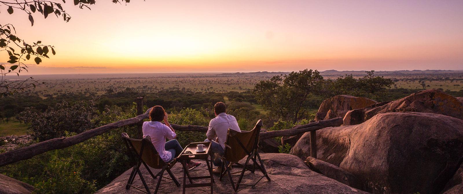 Serengeti Pioneer Camp Sunset - Great Migration Safari - Tanzania Safari Honeymoon