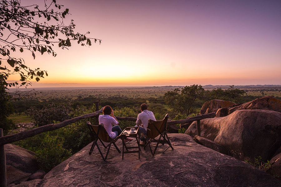 Serengeti Pioneer Camp Sunset - Great Migration Safari - Tanzania Safari Honeymoon