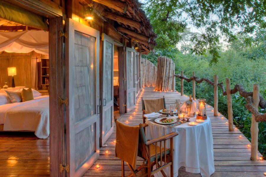 Bedroom View - Lake Manyara Tanzania - Manyara Tree Lodge