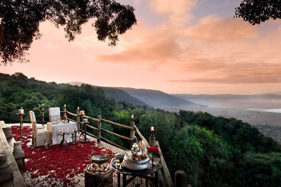 Lodge view - Ngorongoro Tanzania - &Beyond Ngorongoro Crater Lodge