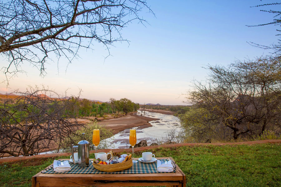 Bush breakfast- Samburu Kenya - Sasaab