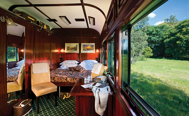 Rovos Rail Deluxe Suite - South Africa Luxury Vacations