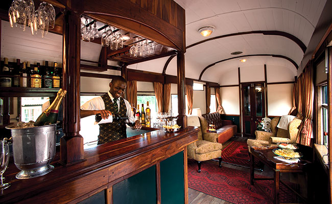Rovos Rail Bar - South Africa Luxury Vacations