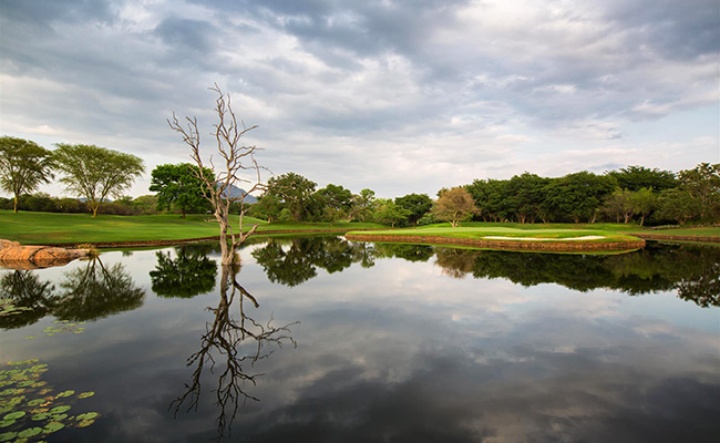 Water Feature at Leopard Creek - South Africa Golf Vacations - Kruger National Park