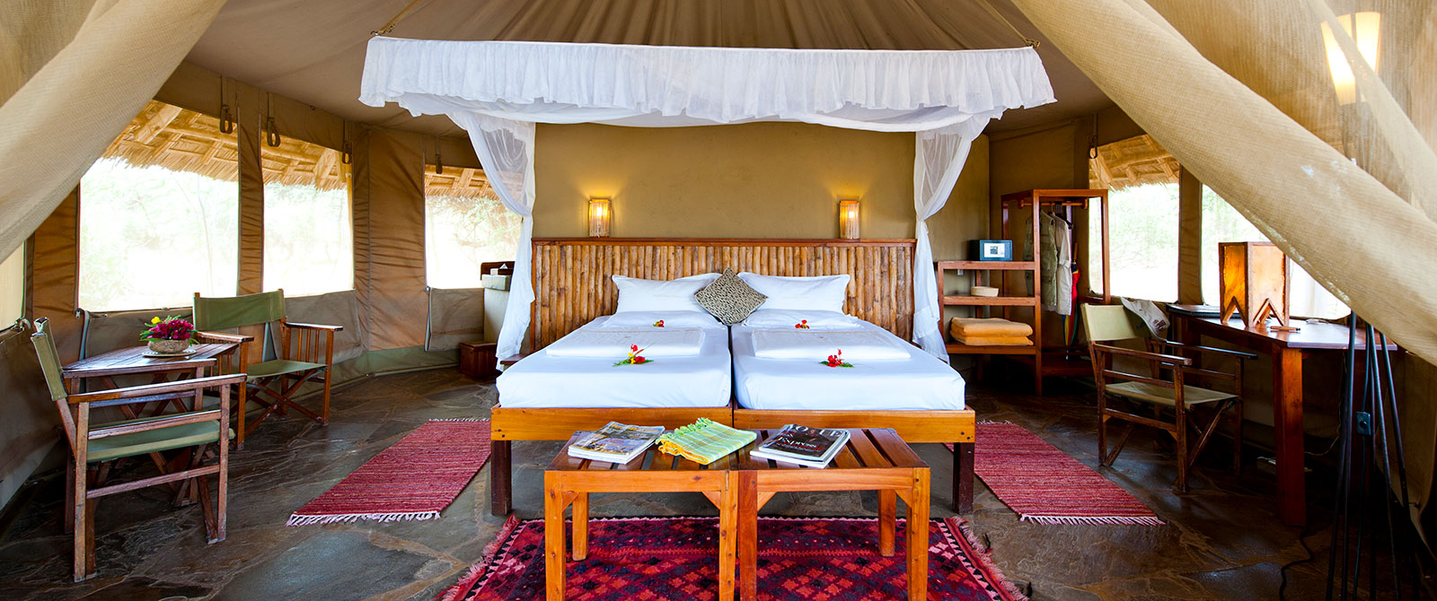 Luxury Tented Suite at Severin Camp - Tsavo West National Park Kenya - Luxury Air Safari: Kenya Adventure Package