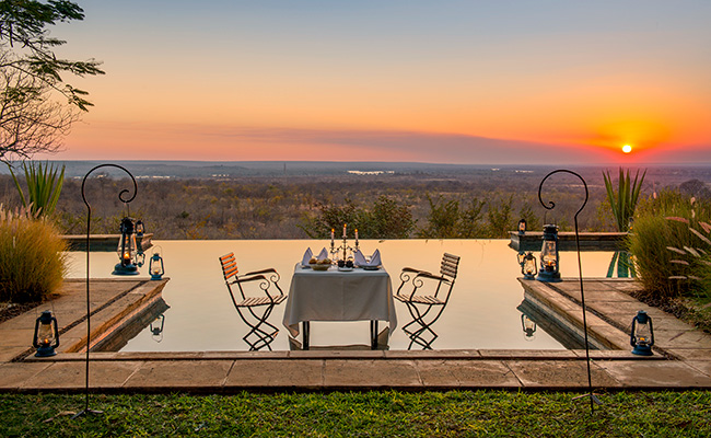 Victoria Falls Where to Stay - Sunset at Stanley Safari Lodge - Treat Yourself to a Victoria Falls River Lodge