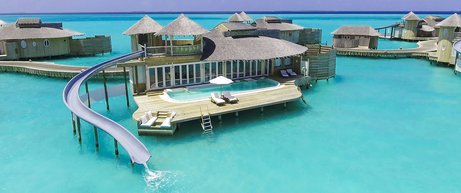 Soneva Jani Resort - 1 Bedroom Water Retreat with Slide - Maldives Overwater Bungalow Vacation