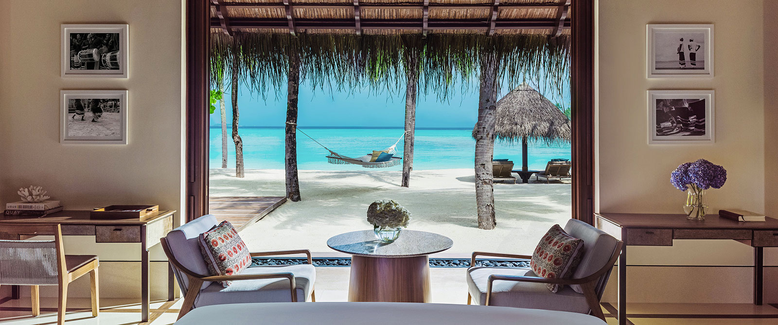 One&Only Reethi Rah Resort Maldives - View from Beach Villa Bedroom