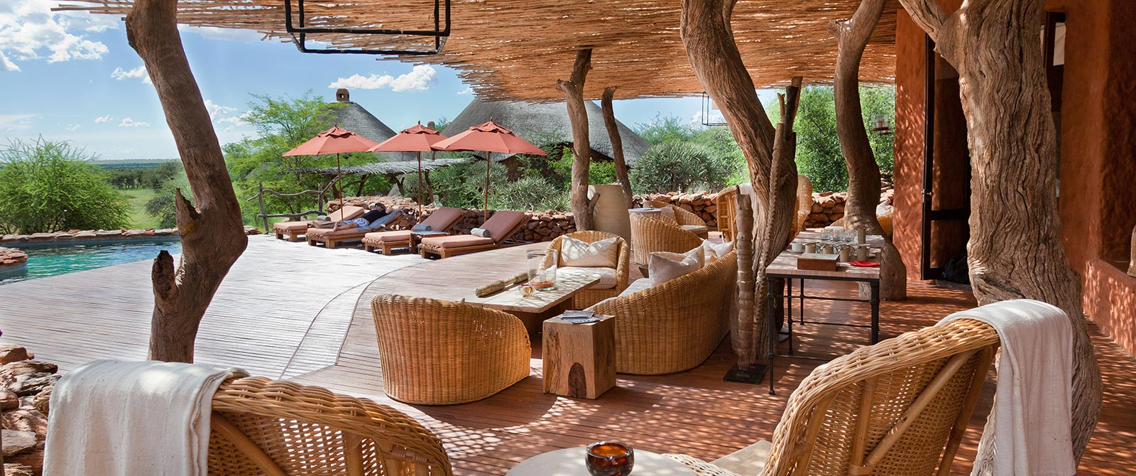 Tswalu Motse Safari Lodge Deck and Pool - Cape Town Explorer and Family Safari Adventure