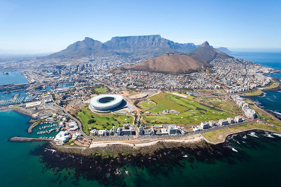 Aerial View of Cape Town - South Africa Tours and Safari Packages
