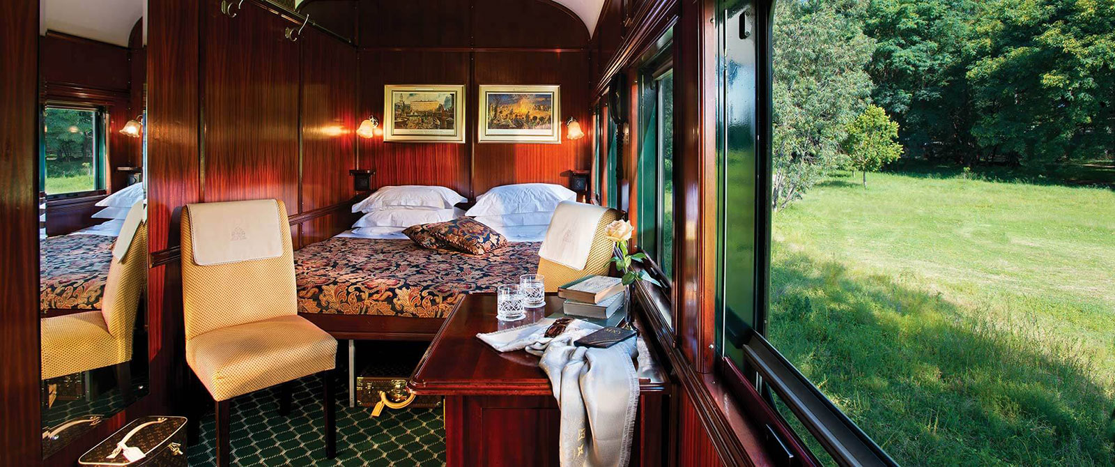 Deluxe Suite Aboard the Rovos Rail, South Africa