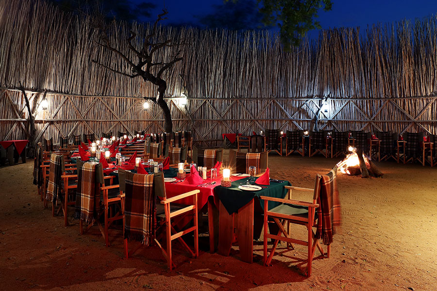 Boma Outdoor Dining - MalaMala Camp