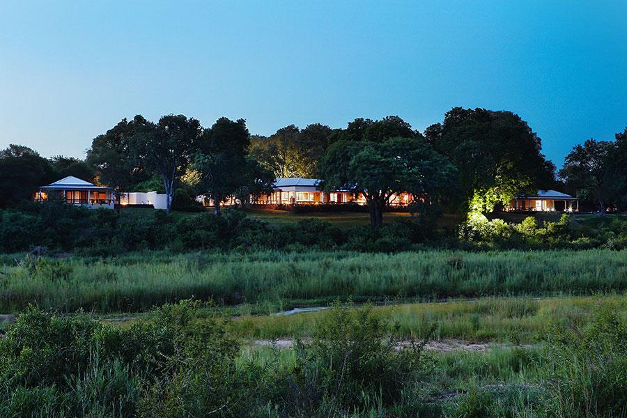 MalaMala Rattrays Camp - Lodge Exterior at Dusk