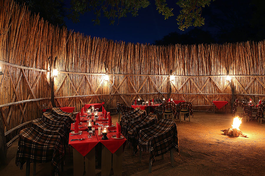 MalaMala Rattrays Camp - Outdoor Boma Dining