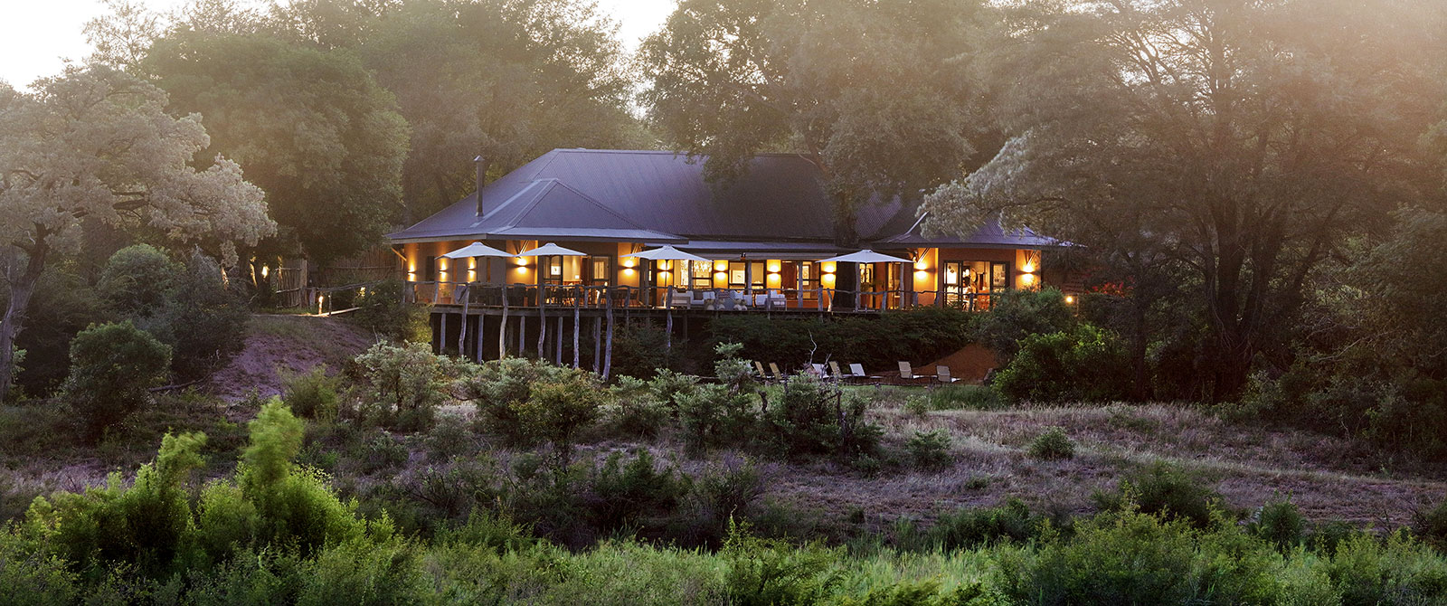 MalaMala Sable Camp - Exterior at Dusk - Kruger Safaris South Africa