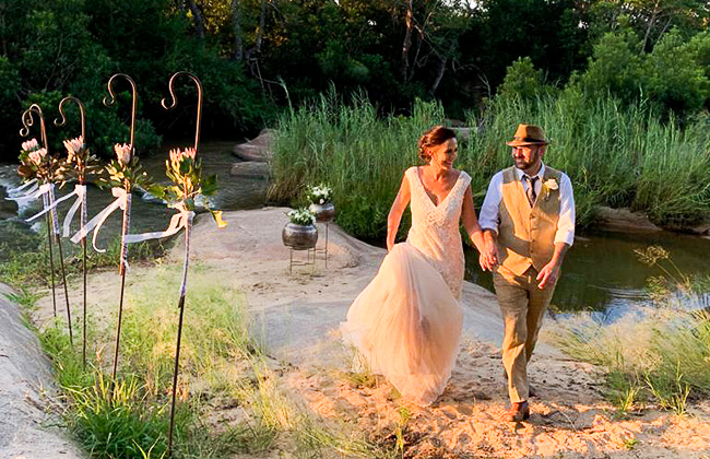 South Africa wedding ceremony in the Sabi Sands
