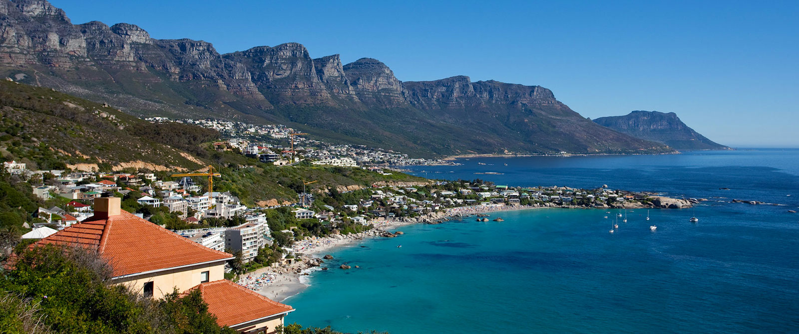 Clifton Beaches and the Twelve Apostles in Cape Town, South Africa